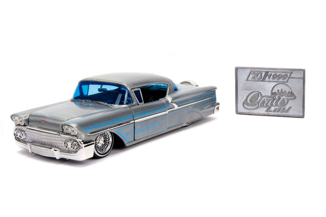"Damaged Box - Jada 1/24 ""Streetlow"" 1958 Chevy Impala"